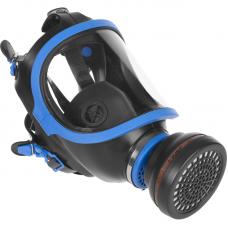 Полнолицевая маска в комплекте с одним сменным противогазовым фильтром марки А2., ЗУБР, ЭКСПЕРТ, 11125