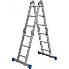 Лестница-трансформер алюминиевая с платформой, ЗУБР, ЭКСПЕРТ, 38861