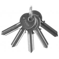 Заготовка ключа для цилиндрового механизма, классический тип, 5шт., ЗУБР, МАСТЕР, 52195_z01