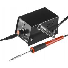 Мини-паяльная станция  аналоговая, диапазон 100 ÷ 450°C, 8Вт, ЗУБР, МАСТЕР, 55331