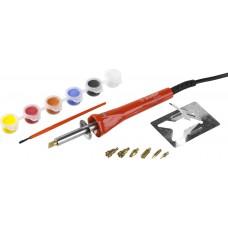 Прибор для выжигания «ЗУБР»  с набором насадок и красками, ЗУБР, МАСТЕР, 55425