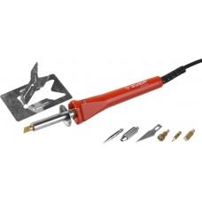 Прибор для выжигания «ЗУБР»  с набором насадок  7 шт.   3 в 1 выжигание, пайка, резка, ЗУБР, МАСТЕР, 55426